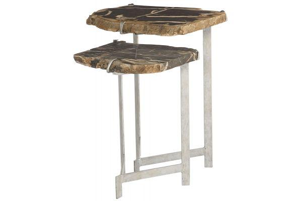 Bernhardt Matte Silver Ardelle Nesting Tables - 358-029