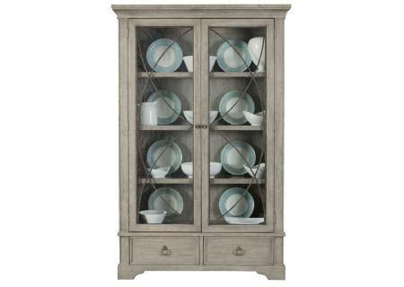Bernhardt Marquesa Gray Cashmere Display Curio Cabinet - 359-356