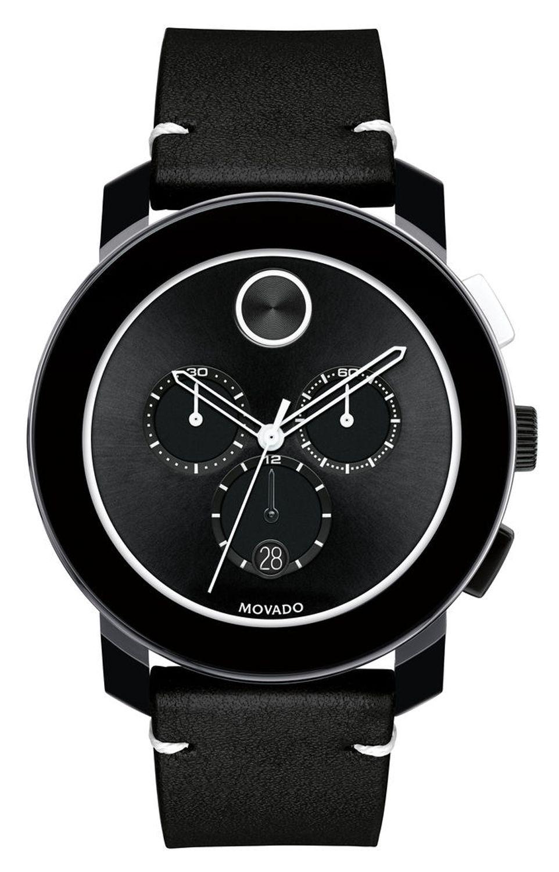 Movado Bold Large Chronograph Black Watch 3600386