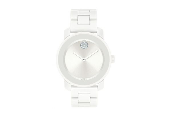Large image of Movado Bold 36mm White Ceramic Womens Watch - 3600534