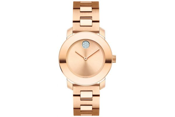 Movado Bold Rose Gold-Tone Stainless Steel Unisex Watch - 3600550