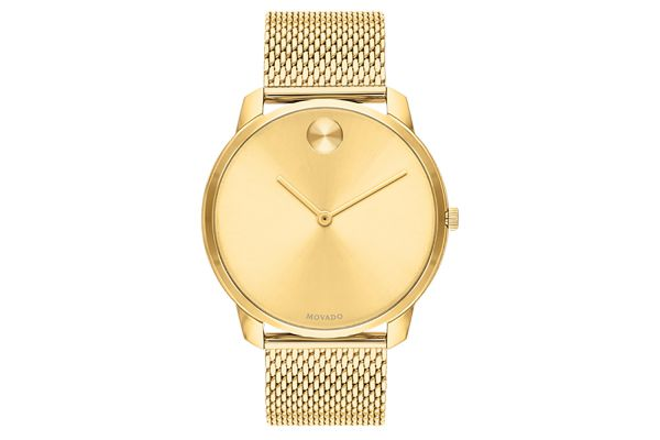Large image of Movado Bold 42mm Yellow Gold Mens Watch - 3600588