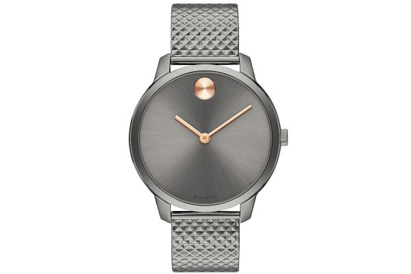 Large image of Movado BOLD 35mm Grey Ion-Plated Stainless Steel Womens Watch - 3600597