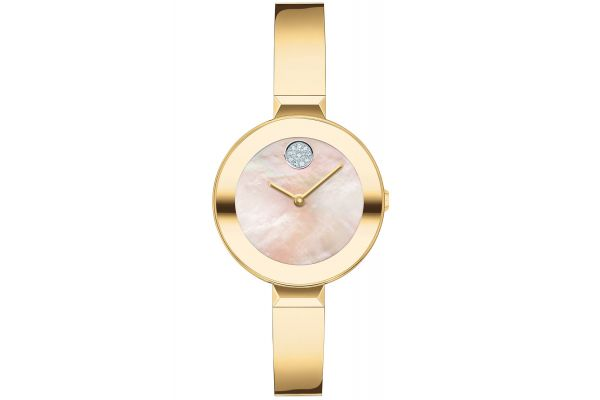 Large image of Movado BOLD 28mm Yellow Gold Ion-Plated Stainless Steel Watch - 3600627
