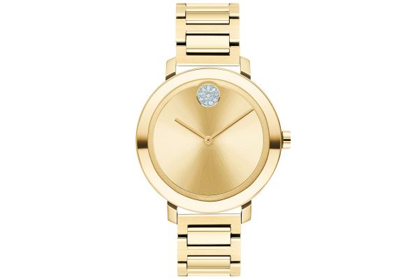 Large image of Movado BOLD Evolution Pale Yellow Gold Womens Watch - 3600649