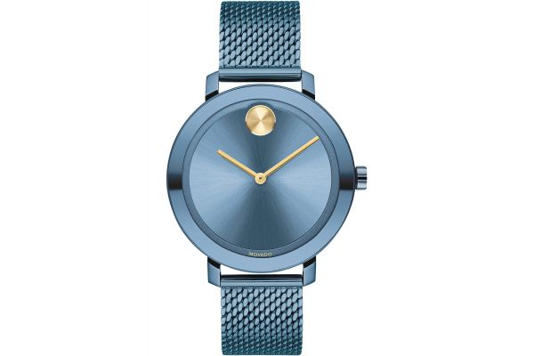 Large image of Movado BOLD Evolution 34mm Blue Ion-Plated Stainless Steel Watch - 3600675