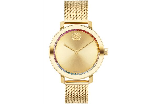 Large image of Movado BOLD Evolution 34mm Pale Gold Ion-Plated Stainless Steel Watch - 3600699