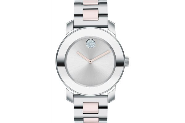 Large image of Movado BOLD Ceramic 36mm Stainless Steel Womens Watch - 3600702