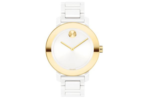 Large image of Movado BOLD Evolution White And Light Gold Stainless Steel Womens Watch - 3600710