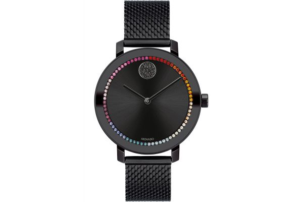 Large image of Movado BOLD Evolution 34mm Black Ion-Plated Stainless Steel Watch - 3600714