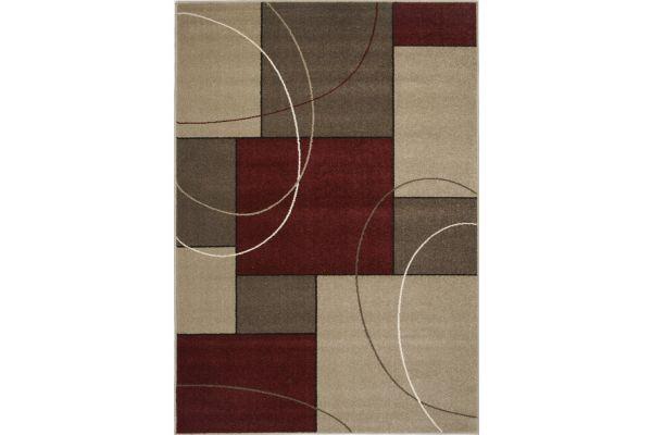 "Large image of Kalora Casa 5'3"" X 7'7"" Burgundy Taupe Familiar Red Rug - 3604/225 160230"