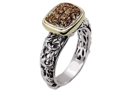 Charles Krypell Sterling Silver Brown Diamond Pave Ring - 3-6507-SBRP