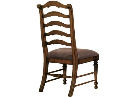 Hooker Furniture Brown Dining Room Waverly Place Sporty Cognac Fabric Ladderback Side Chair - 366-75-410