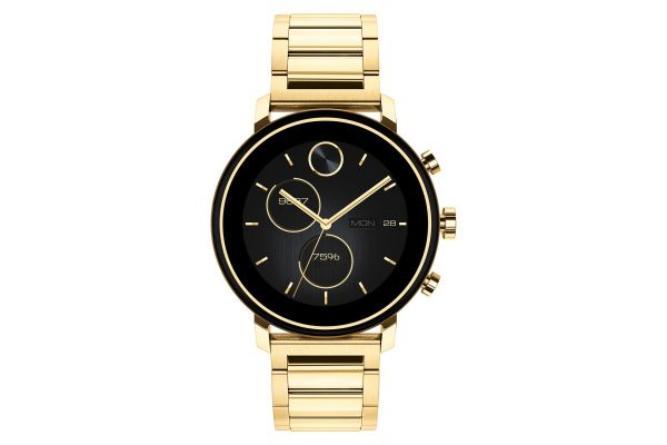Large image of Movado Connect 2.0 42mm Pale Yellow Gold Smartwatch - 3660036