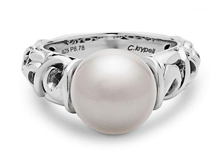 Charles Krypell Ivy Pearl Sterling Silver Ring - 3-6830-PRLW