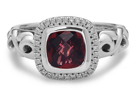 Charles Krypell Ellah Garnet Sterling Silver Ring - 36882SGARD