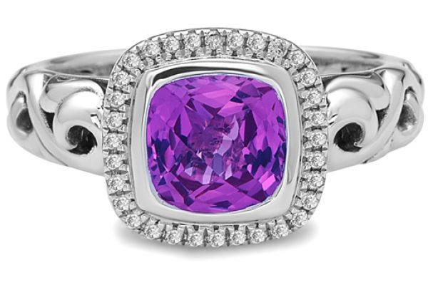 Charles Krypell Ellah Pink Topaz Sterling Silver Ring - 36882SPKTD