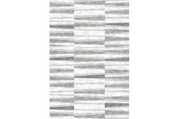 """Large image of Kalora Platinum 5'3"""" X 7'7"""" Grey White Sediments Pile Rug - 3694/65 160230"""