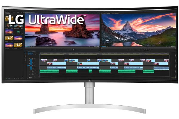 "Large image of LG 38"" 21:9 Curved UltraWide QHD+ Nano IPS 144Hz Computer Monitor - 38WN95C"