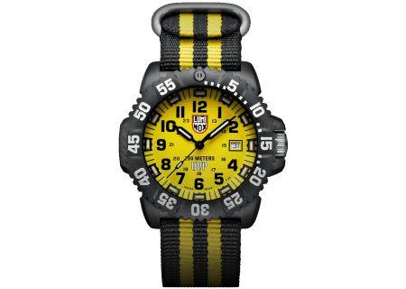 Luminox Scott Cassell Special Black & Yellow Mens Watch - 3955.SET