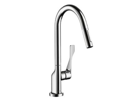 Hansgrohe AXOR Citterio Chrome 2-Spray Pull-Down HighArc Kitchen Faucet - 39835001