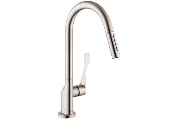 Hansgrohe Axor Citterio Steel Optik 1-Handle Kitchen Faucet - 39835801
