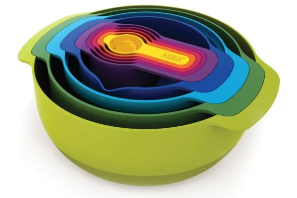 Joseph Joseph Multi-Color Nest 9 Plus Food Preparation Bowl Set - 40087
