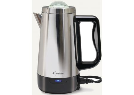 Capresso Polished Stainless Steel 8-Cup Perk Coffee Percolator - 403.05