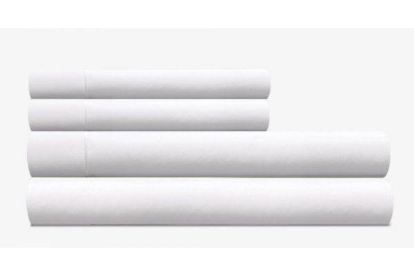 Large image of Tempur-Pedic Pima Cotton 310 Count White Split California King Sheet Set - 40606490