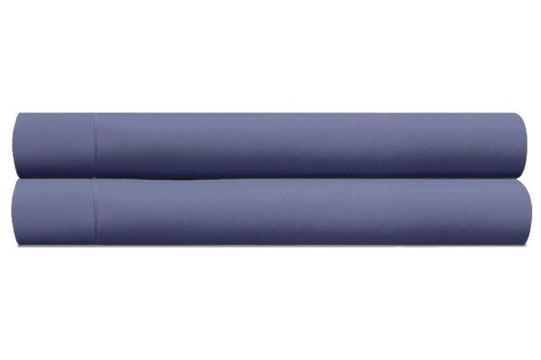 Large image of Tempur-Pedic Pima 310 Thread Count Denim Queen Pillow Cases - 40765121