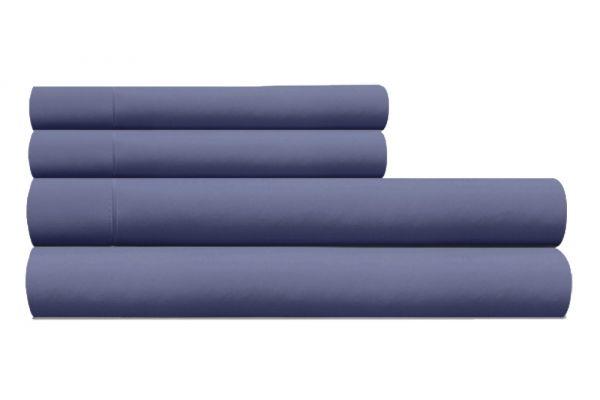 Large image of Tempur-Pedic Pima Cotton 310 Count Denim Full Sheet Set - 40765130