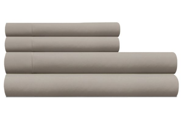 Large image of Tempur-Pedic Pima Cotton 310 Count Silver Lining Split California King Sheet Set - 40765290
