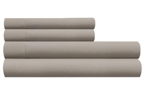 Large image of Tempur-Pedic Pima Cotton 310 Count Silver Lining Split King Sheet Set - 40765295