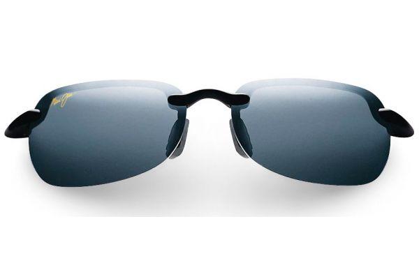 Large image of Maui Jim Sandy Beach Gloss Black Unisex Sunglasses - 408-02