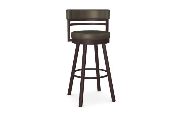 Large image of Amisco Ronny Shimmer/Oxidado Swivel Bar Stool - 41442-30-52/EJ