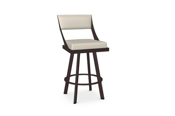 Large image of Amisco Fame Oyster/Mineral Swivel Counter Stool - 41468-26-52/DB