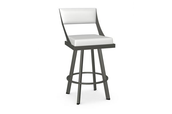 Large image of Amisco Fame Blizzard/Metallo Swivel Counter Stool - 41468-26-57/DH