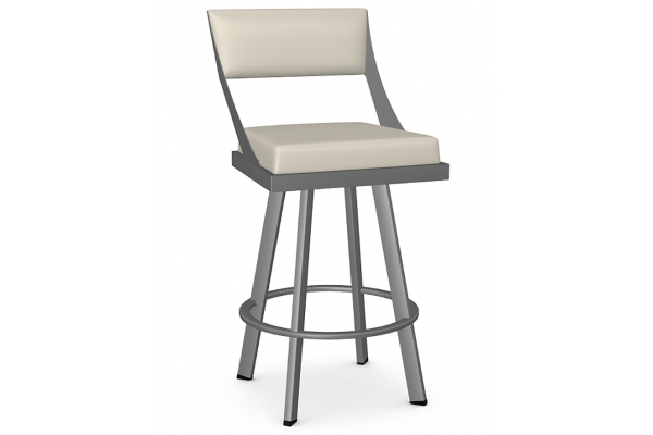 Large image of Amisco Fame Oyster/Dayglam Swivel Counter Stool - 41468-26-53/DB