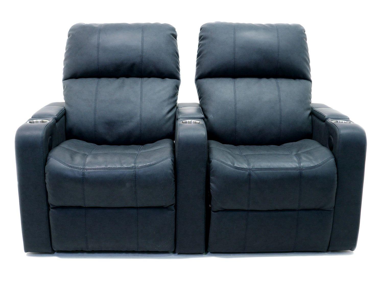 Palliser Elite Series Black 2 Seat Straight Home Theater Seating 41952 2pc