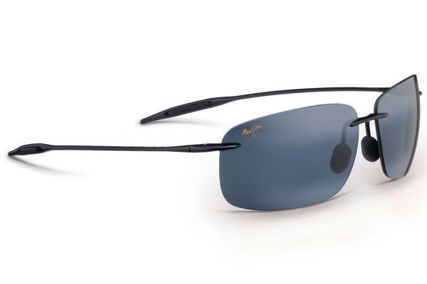 Maui Jim Breakwall Round Black Unisex Sunglasses - 422-02