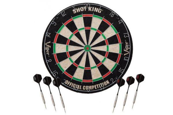 Large image of Viper By GLD Products Shot King Bristle Dartboard - 42-6002V