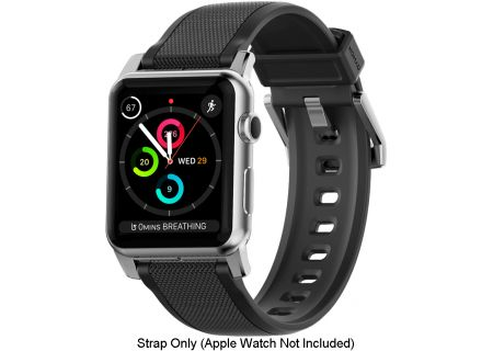 Nomad - STRAP-42MM-BLACK-SILICONE-BL - Watch Accessories