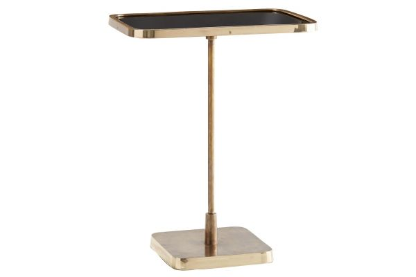 Large image of Arteriors Vintage Brass Kaela Rectangle Accent Table - 4386