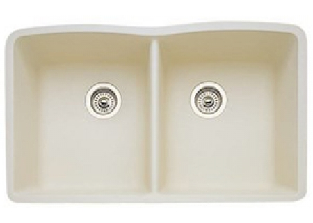 Blanco Diamond Series Equal Double Bowl Undermount Biscuit Sink - 440186