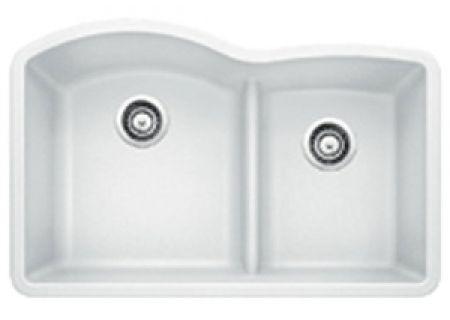 Blanco Diamond Undermount White 1.75 Bowl Sink - 441593