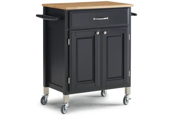 Large image of Homestyles Dolly Madison Black Kitchen Cart - 4506-95
