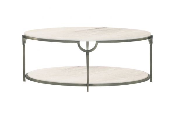 Large image of Bernhardt Morello Oval Cocktail Table - 469-013
