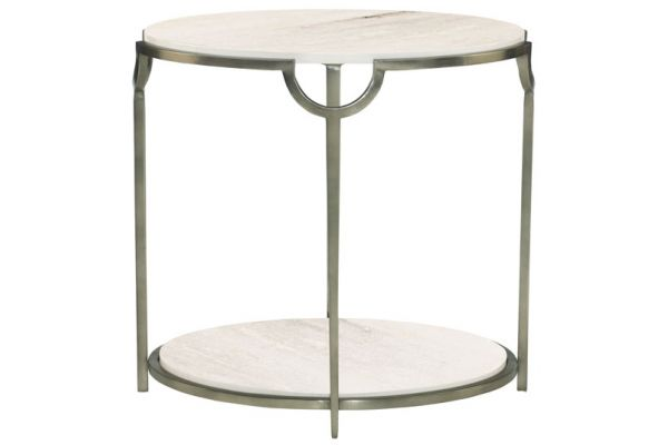 Large image of Bernhardt Morello Oval Metal End Table - 469-113