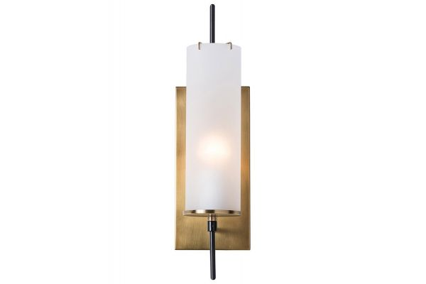Large image of Arteriors Stefan Frosted And Bronze Sconce - 49999