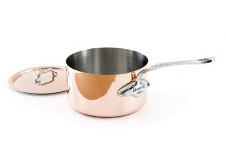 Mauviel M150s 2.7 Qt. Copper And Stainless Steel  Saucepan And Lid  - 611019